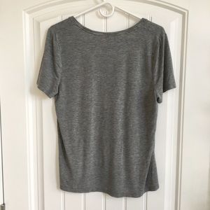 a new day Tops - Gray Scoop-Neck Tee